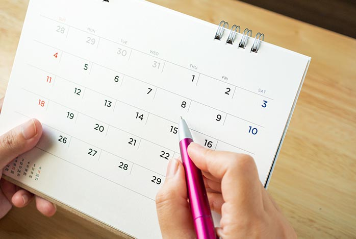 calendar to know your medicare deadlines
